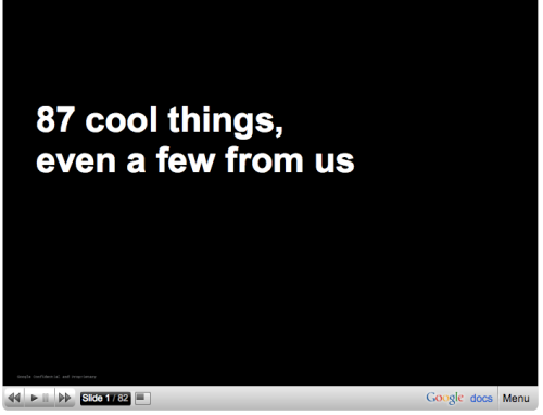 87 cool things (by Google)